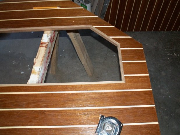 Before Installing In The Boat I Applied Teak Trim Around Bilge Cutouts After Sealing All Edges With Epoxy This Will Get 5 Coats Of Varnish